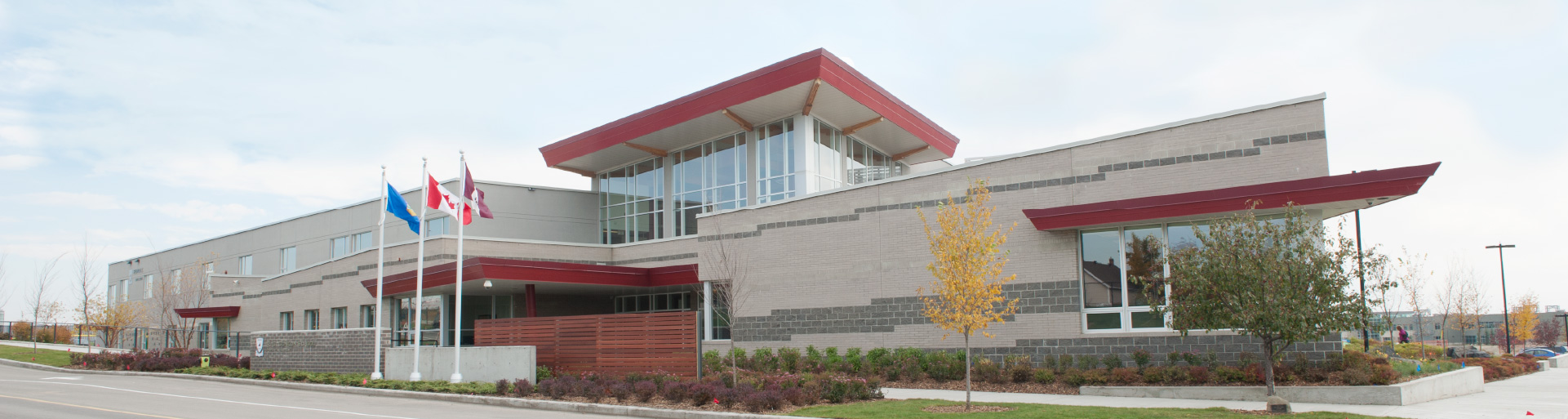 A panorama of the Rundle College school building.