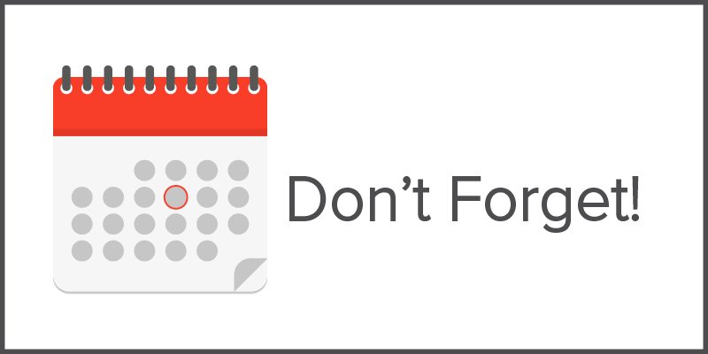 Event Calendar - Don't Forget